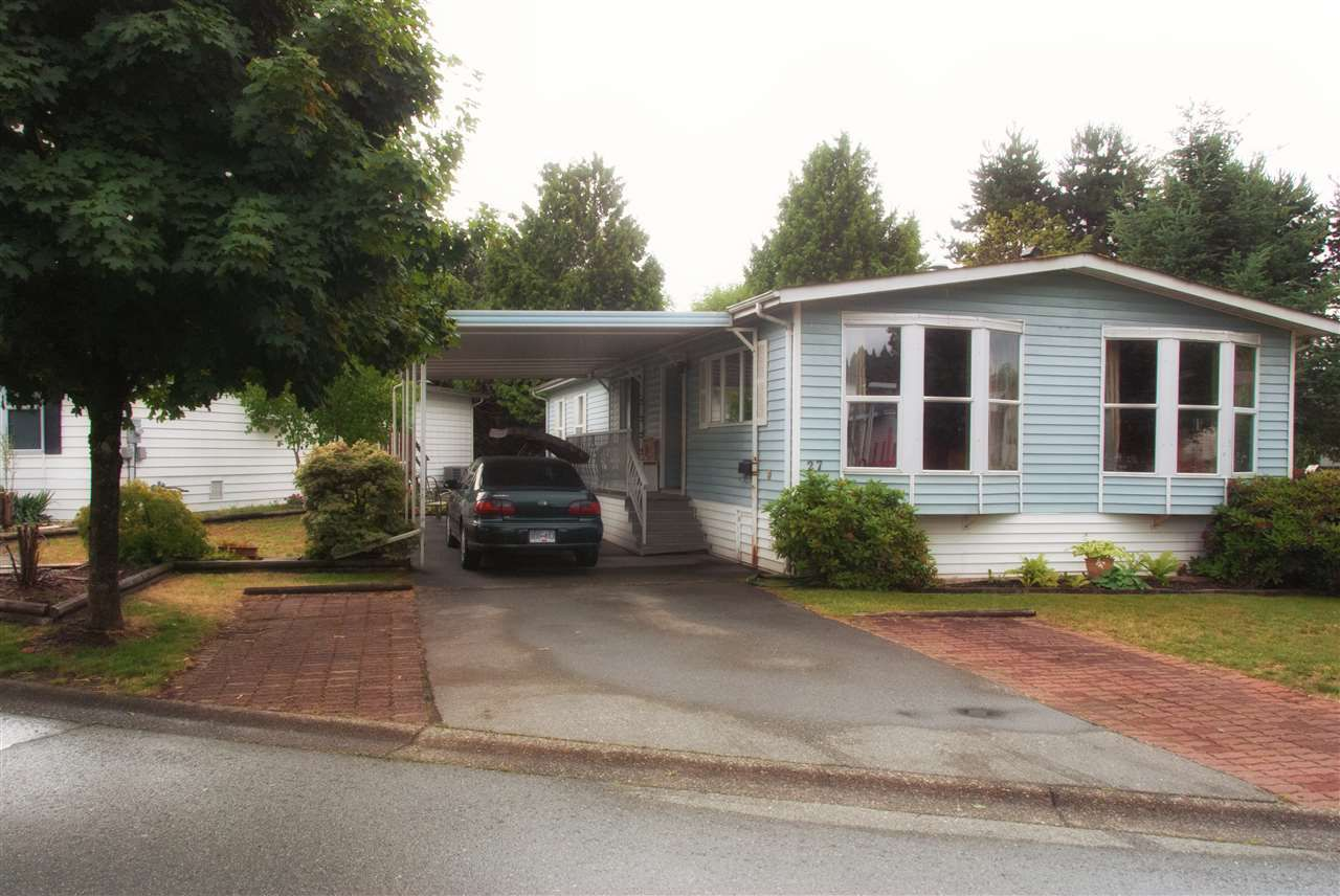 "Main Photo: 27 145 KING EDWARD Street in Coquitlam: Maillardville Manufactured Home for sale in ""Mill Creek Village"" : MLS®# R2079861"