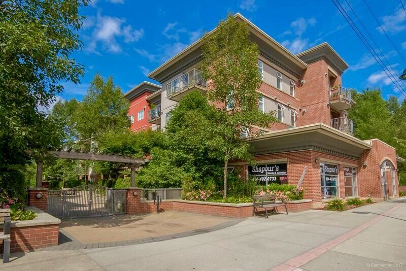 "Main Photo: 203 3260 ST JOHNS Street in Port Moody: Port Moody Centre Condo for sale in ""THE SQUARE"" : MLS®# R2347758"