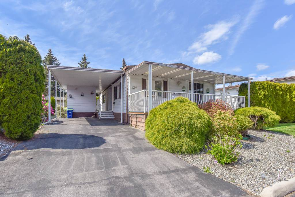 """Main Photo: 132 8234 134 Street in Surrey: Bear Creek Green Timbers Manufactured Home for sale in """"WESTWOOD ESTATE"""" : MLS®# R2355383"""