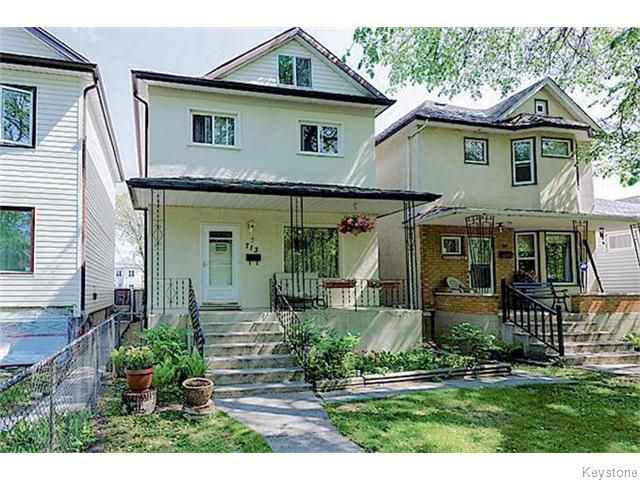 Main Photo: 713 College Avenue in Winnipeg: North End Residential for sale (North West Winnipeg)  : MLS®# 1607946