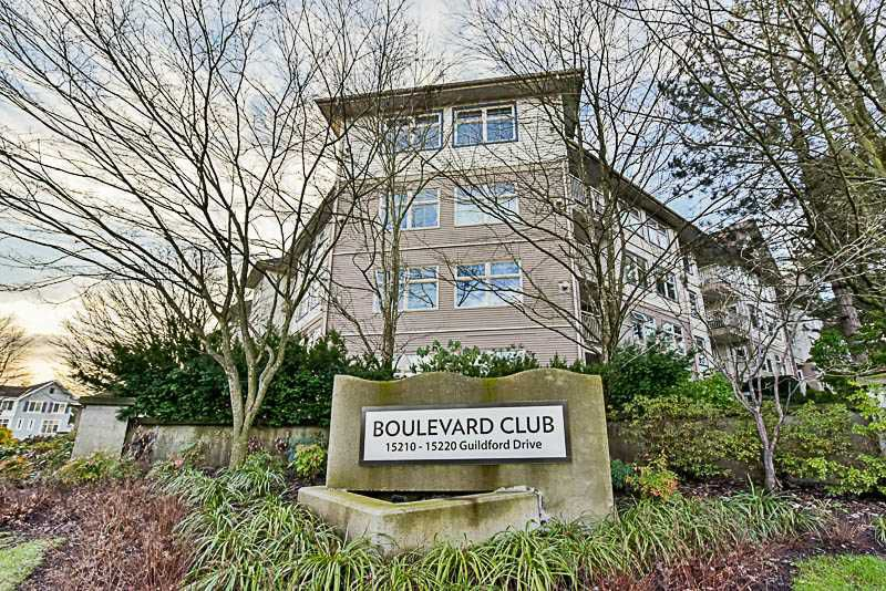 """Main Photo: 217 15210 GUILDFORD Drive in Surrey: Guildford Condo for sale in """"The Boulevard Club"""" (North Surrey)  : MLS®# R2232822"""
