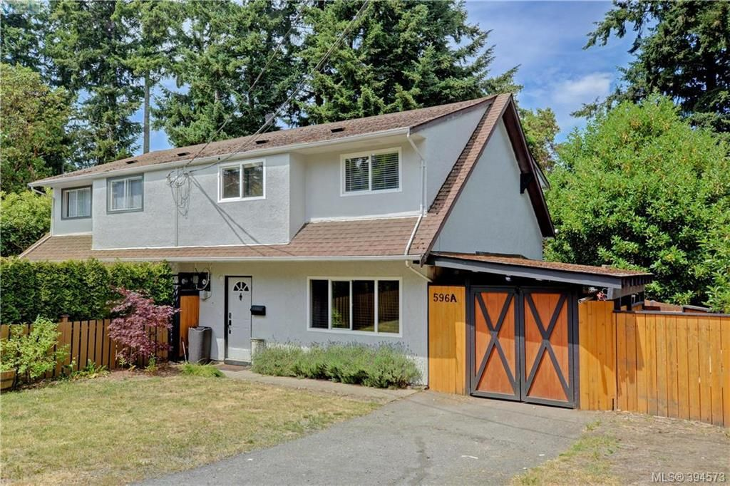 Main Photo: A 596 Langholme Drive in VICTORIA: Co Wishart North Strata Duplex Unit for sale (Colwood)  : MLS®# 394573