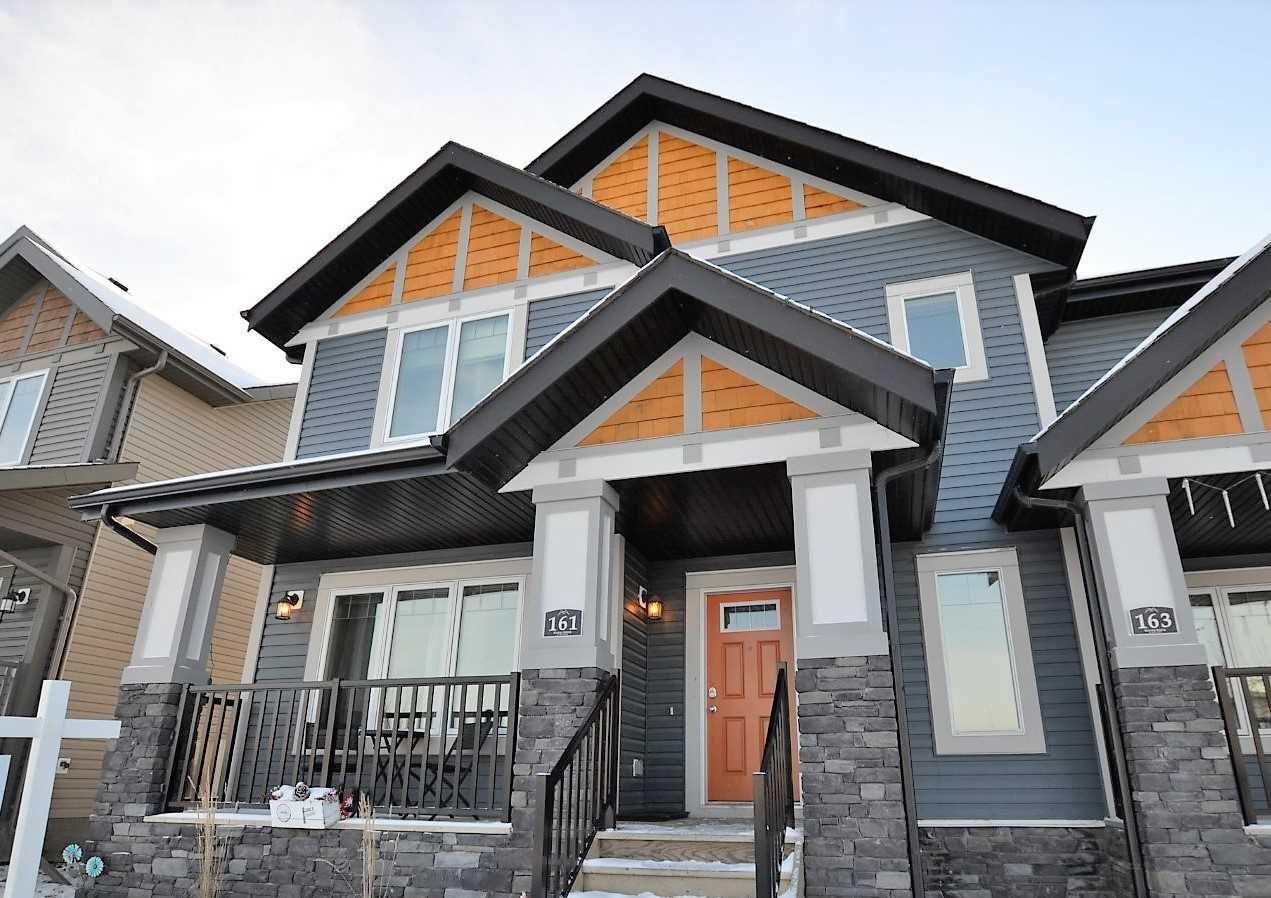 Main Photo: 161 HAWKS RIDGE Boulevard NW in Edmonton: Zone 59 House Half Duplex for sale : MLS®# E4151128