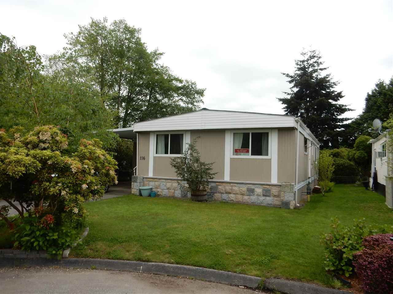 "Main Photo: 116 1840 160 Street in Surrey: King George Corridor Manufactured Home for sale in ""Breakaway Bays"" (South Surrey White Rock)  : MLS®# R2069788"