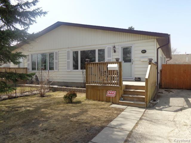 Main Photo: 119 Bernadine Crescent in WINNIPEG: Westwood / Crestview Residential for sale (West Winnipeg)  : MLS®# 1509123