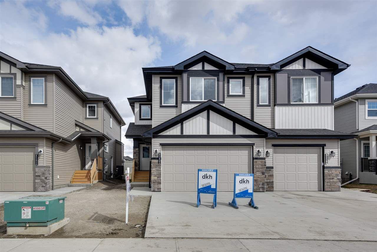Main Photo: 8540 CUSHING Place in Edmonton: Zone 55 House Half Duplex for sale : MLS®# E4151938