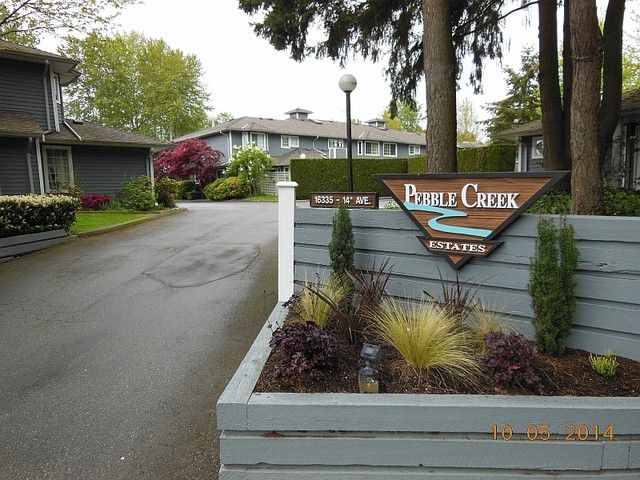 """Main Photo: 107 16335 14TH Avenue in Surrey: King George Corridor Townhouse for sale in """"PEBBLE CREEK"""" (South Surrey White Rock)  : MLS®# F1412566"""