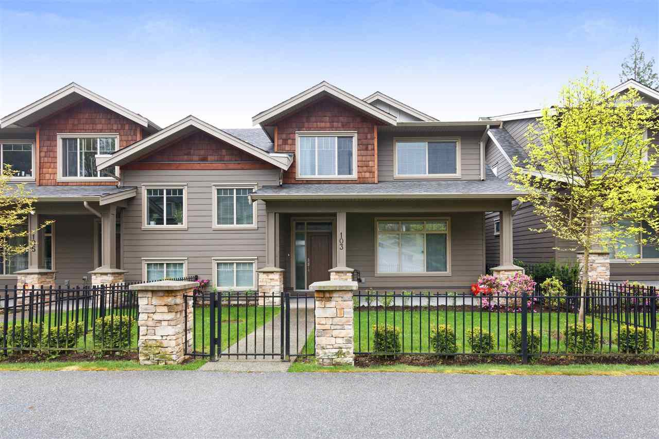 "Main Photo: 103 3450 DAVID Avenue in Coquitlam: Burke Mountain Townhouse for sale in ""Secret Ridge II"" : MLS®# R2288441"
