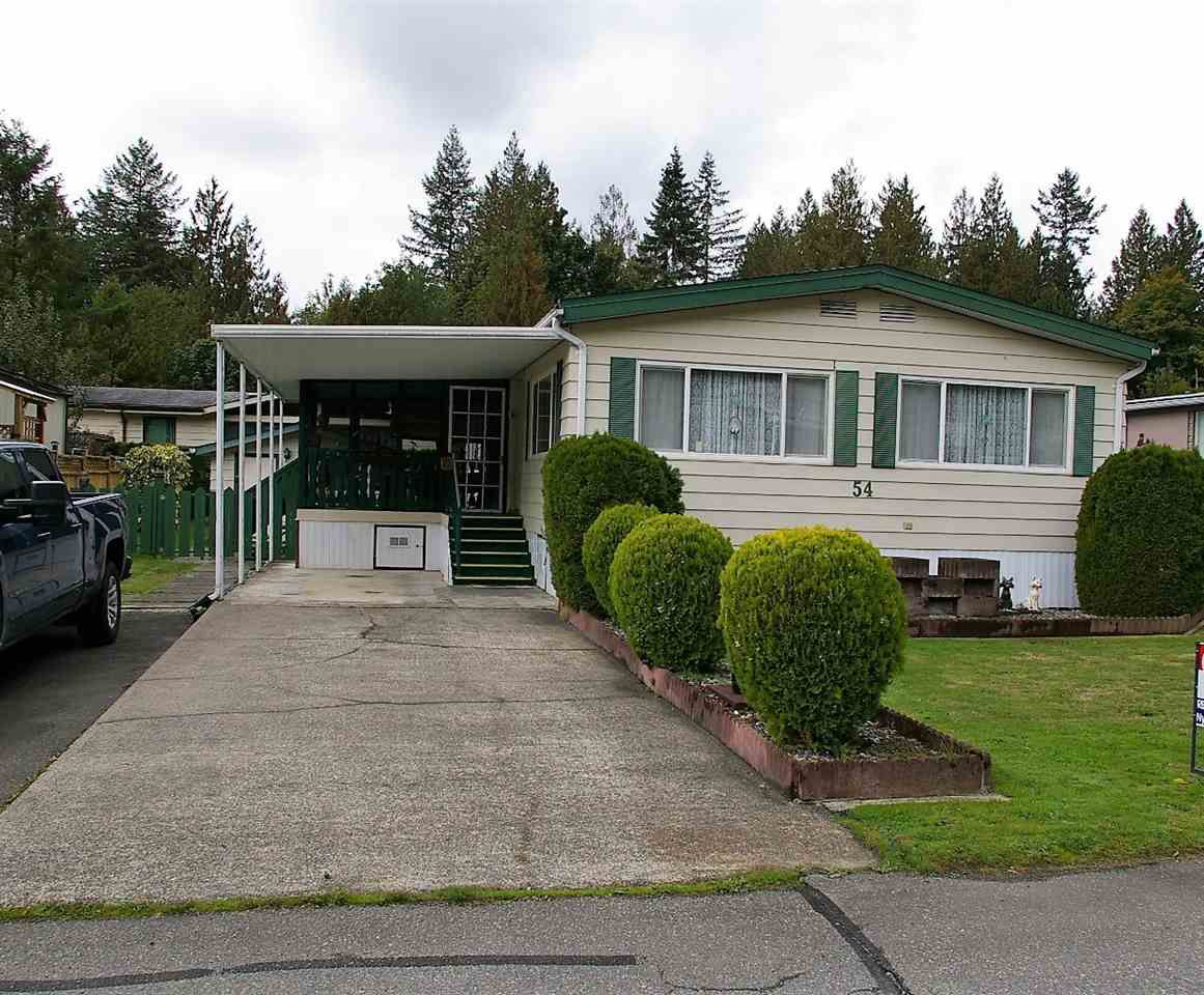 "Main Photo: 54 46511 CHILLIWACK LAKE Road in Sardis - Chwk River Valley: Chilliwack River Valley Manufactured Home for sale in ""Baker Trail Estates"" (Sardis)  : MLS®# R2213612"