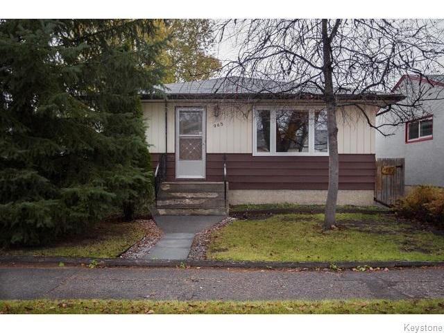 Main Photo: 965 Telfer Street in WINNIPEG: West End / Wolseley Residential for sale (West Winnipeg)  : MLS®# 1529015