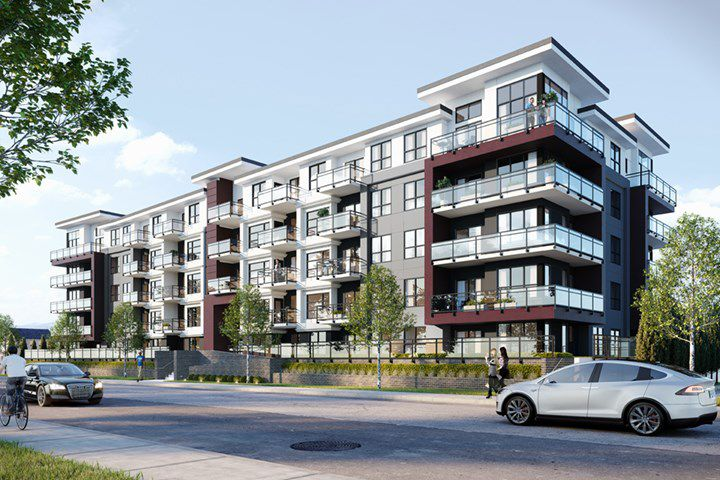 "Main Photo: 412 5485 BRYDON Crescent in Langley: Langley City Condo for sale in ""The Wesley"" : MLS®# R2320275"