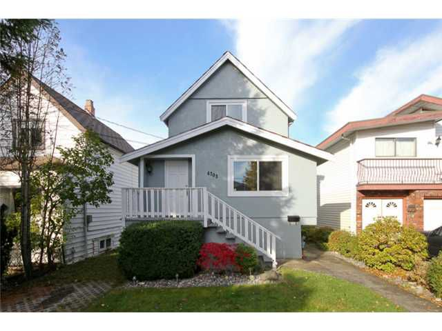 "Main Photo: 4703 GOTHARD Street in Vancouver: Collingwood VE House for sale in ""COLLINGWOOD"" (Vancouver East)  : MLS®# V916437"