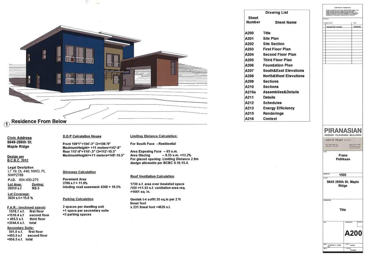 "Main Photo: 9849 286 Street in Maple Ridge: Whonnock Home for sale in ""EAST MAPLE RIDGE"" : MLS®# R2064980"