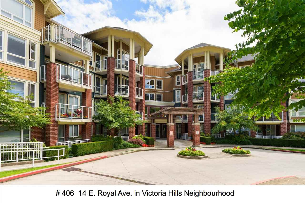"Main Photo: 406 14 E ROYAL Avenue in New Westminster: Fraserview NW Condo for sale in ""Victoria Hill"" : MLS®# R2092920"