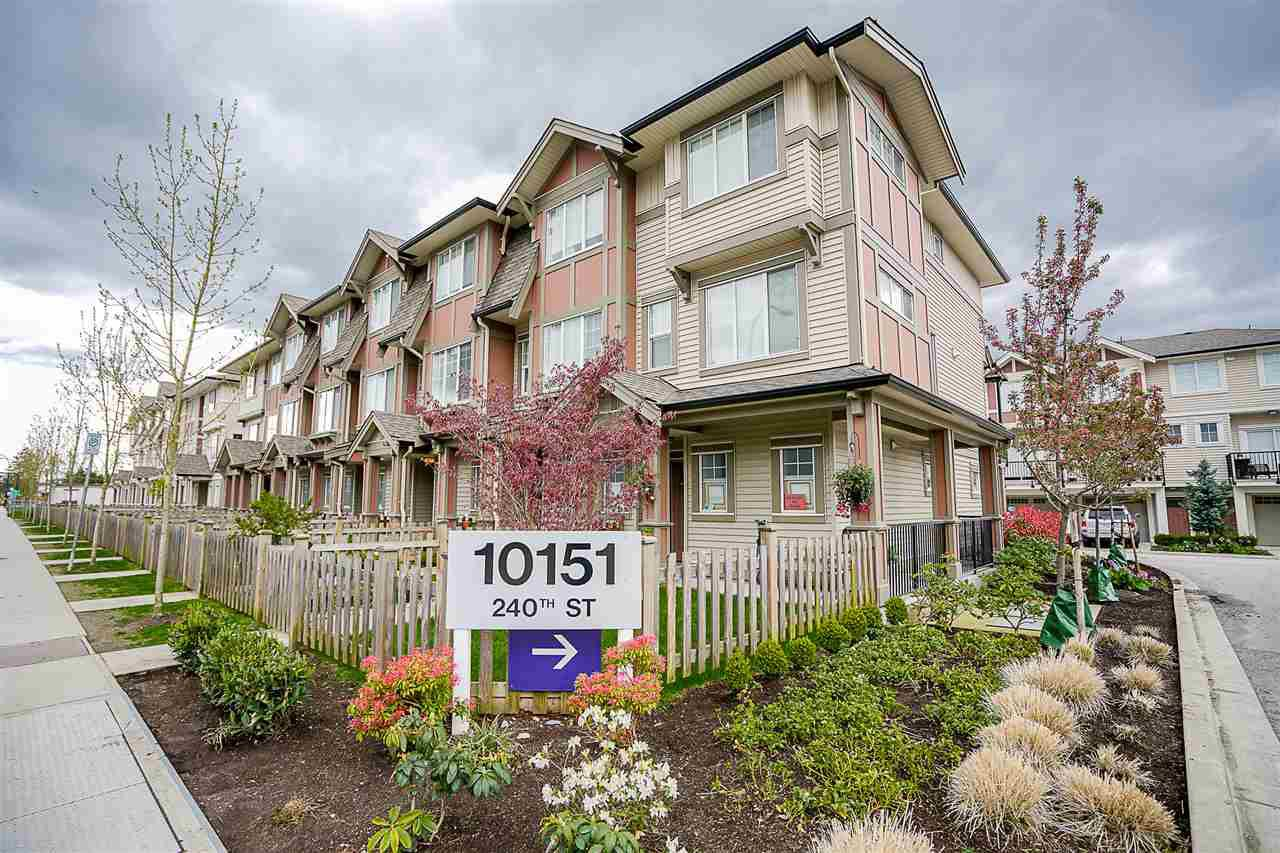 "Main Photo: 114 10151 240 Street in Maple Ridge: Albion Townhouse for sale in ""ALBION STATION"" : MLS®# R2160031"