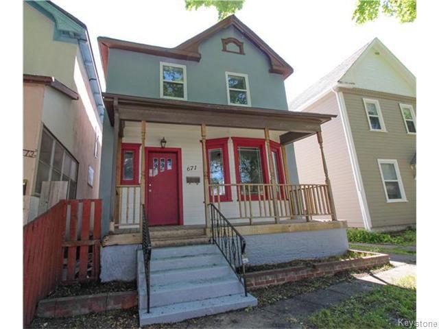 Main Photo: 671 Victor Street in Winnipeg: West End / Wolseley Residential for sale (West Winnipeg)  : MLS®# 1615671