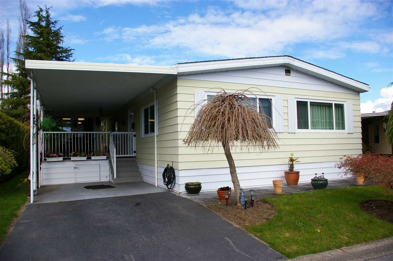 "Main Photo: 51 2303 CRANLEY Drive in Surrey: King George Corridor Manufactured Home for sale in ""Sunnyside Estates"" (South Surrey White Rock)  : MLS®# R2157910"