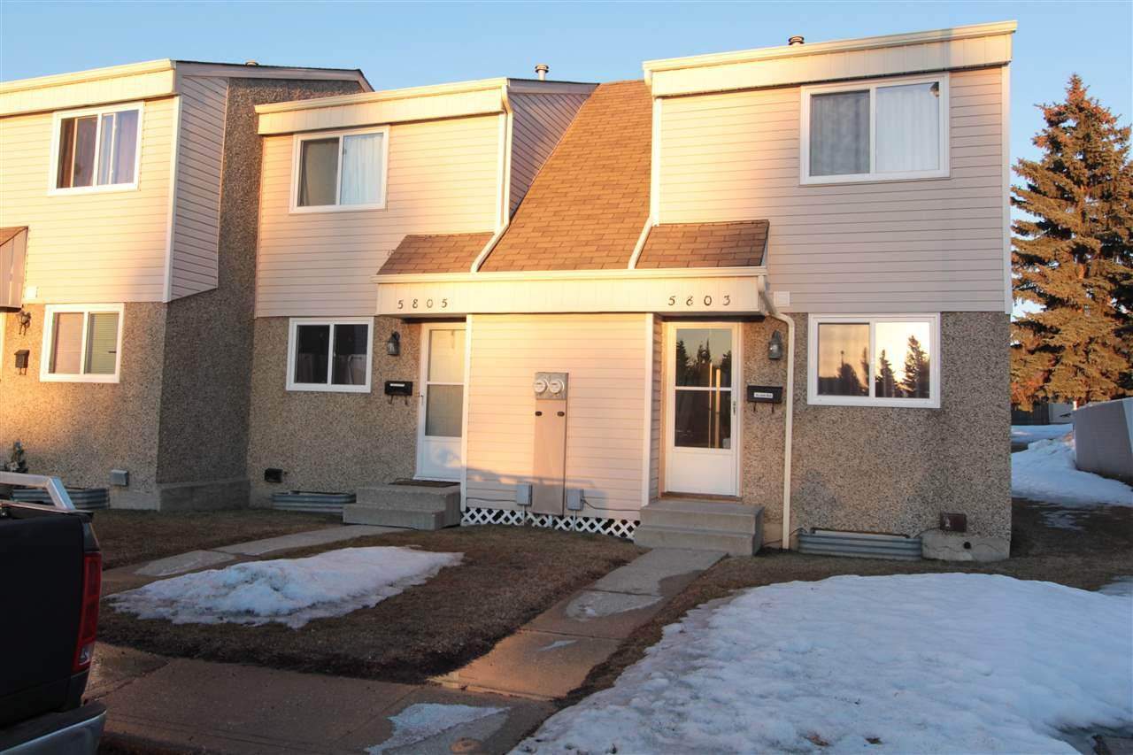 Main Photo: 5803 Riverbend Road in Edmonton: Zone 14 Townhouse for sale : MLS®# E4148541