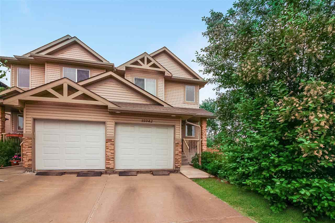 Main Photo: 15942 95 Street NW in Edmonton: Zone 28 House Half Duplex for sale : MLS®# E4146712