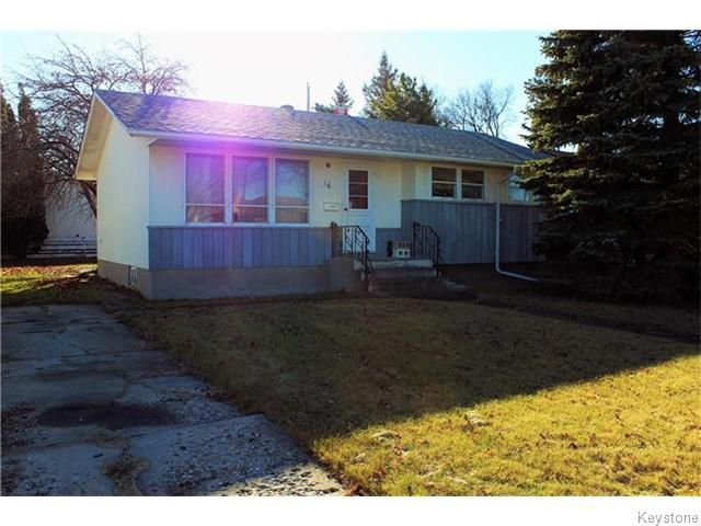 Main Photo: 16 Barberry Road in Winnipeg: Windsor Park Residential for sale (2G)  : MLS®# 1629252