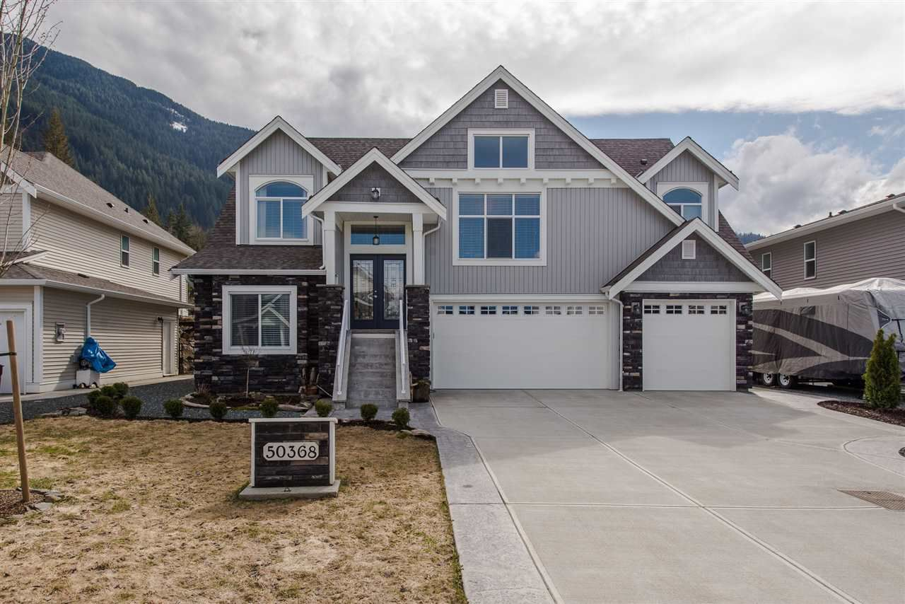 "Main Photo: 50368 KENSINGTON Drive in Chilliwack: Eastern Hillsides House for sale in ""ELK CREEK ESTATES"" : MLS®# R2149407"