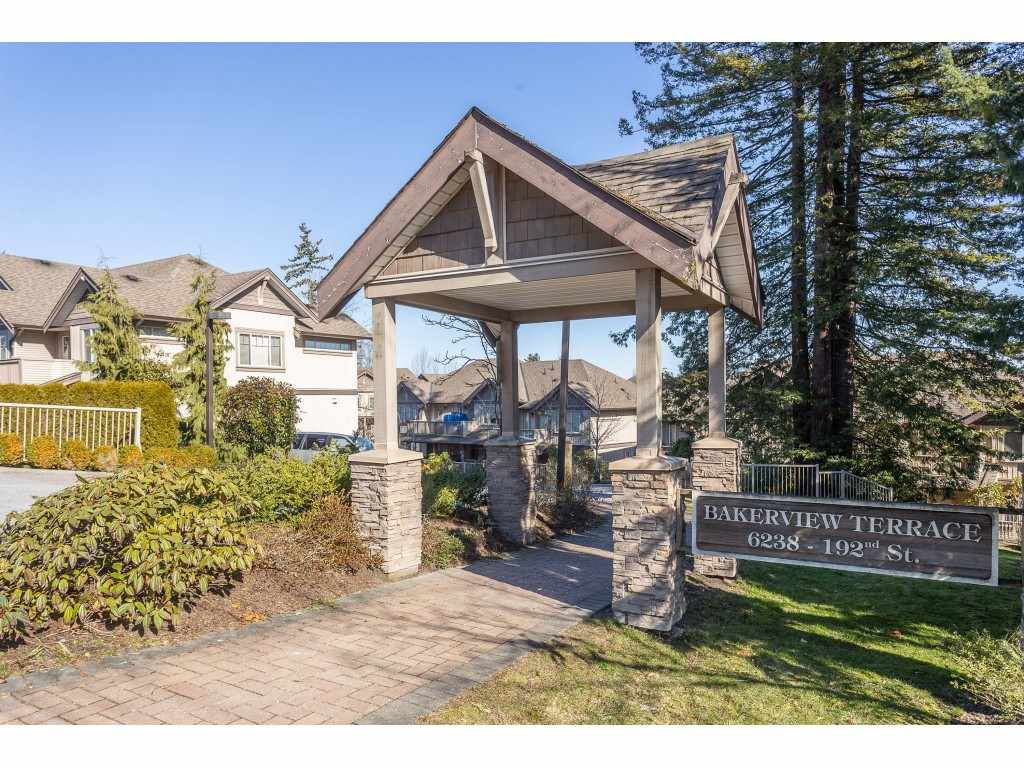 "Main Photo: 4 6238 192 Street in Surrey: Cloverdale BC Townhouse for sale in ""Bakerview Terrace"" (Cloverdale)  : MLS®# R2342921"