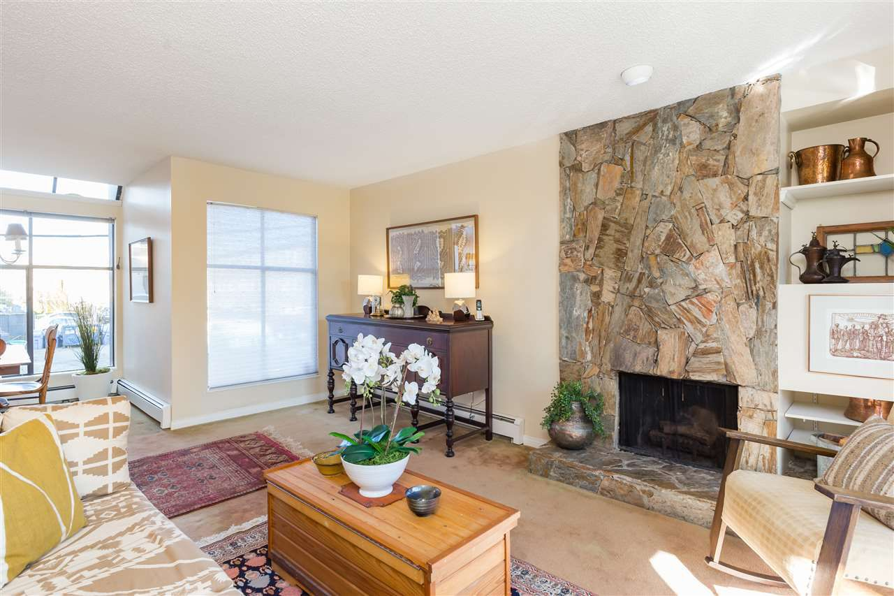 Living Room - Stone Fireplace