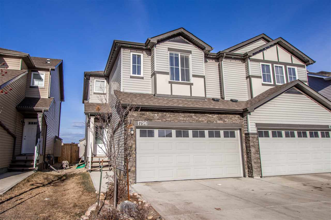 Main Photo: 1796 28 Street NW in Edmonton: Zone 30 House Half Duplex for sale : MLS®# E4151564
