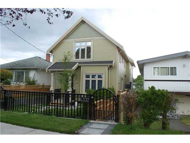 Main Photo: 4332 DUMFRIES ST in Vancouver: Knight Condo for sale (Vancouver East)  : MLS®# V1070619