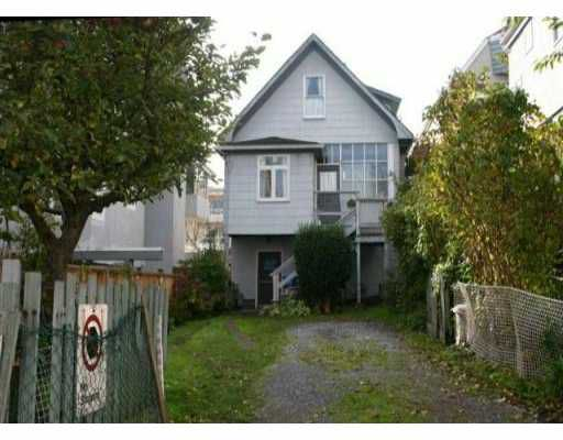 Main Photo: 2117 W 1ST AV in : Kitsilano House for sale : MLS®# V511231