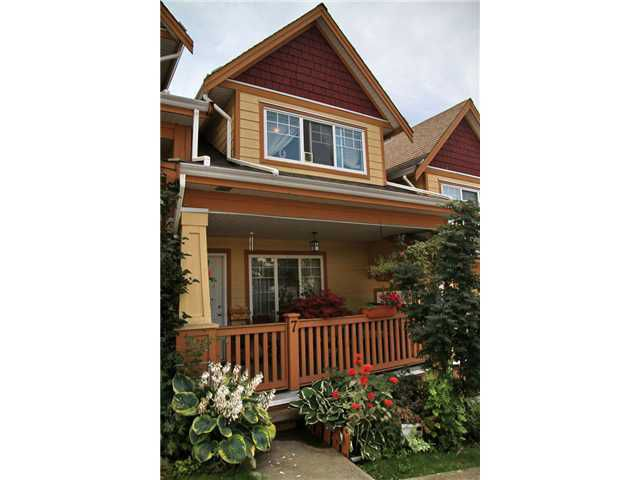 Main Photo: 7 1222 CAMERON Street in New Westminster: Uptown NW Townhouse for sale : MLS®# V977696