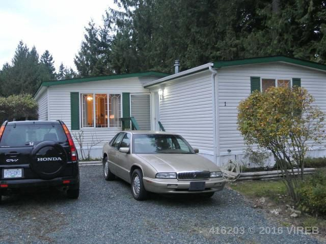 Main Photo: 1 3100 Rinvold Road in Qualicum Beach: Z5 Errington/Coombs/Hilliers Manufactured/Mobile for sale (Zone 5 - Parksville/Qualicum)  : MLS®# 416203