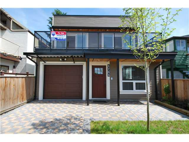 Main Photo: 4763 MANOR ST in Vancouver: Collingwood VE House Triplex for sale (Vancouver East)  : MLS®# V1076198