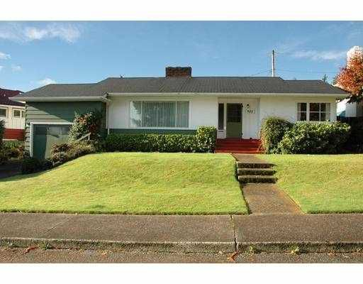 Main Photo: 933 CHESTNUT ST in New Westminster: The Heights NW House for sale : MLS®# V562678