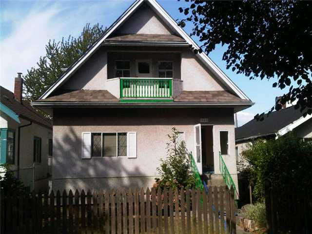 Main Photo: 757 E 10TH AV in : Mount Pleasant VE House for sale : MLS®# V895074