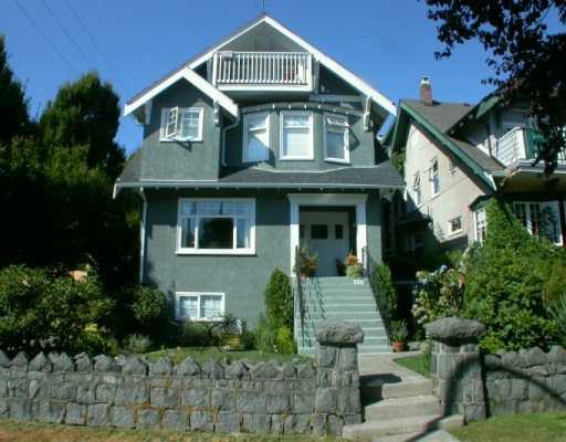 Main Photo: 1855 CREELMAN AV in Vancouver: Kitsilano House Fourplex for sale (Vancouver West)  : MLS®# V553716