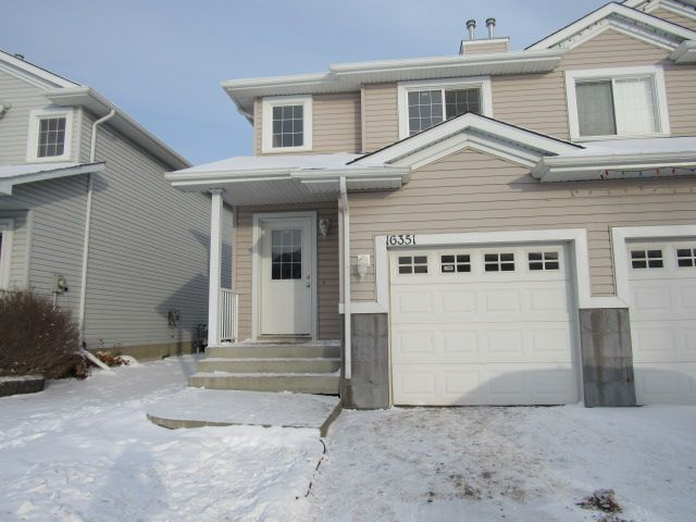 Main Photo: 16351 - 56 Street NW in Edmonton: House Duplex for rent