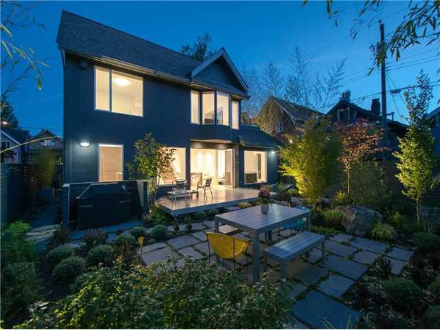 Main Photo: 3057 W. 7th Ave. Vancouver BC. Modern, luxury half duplex on large lot in sought-after Kitsilano. Completely redesigned and renovated to the highest standards. Large patio, fenced-in and professionally landscaped yard