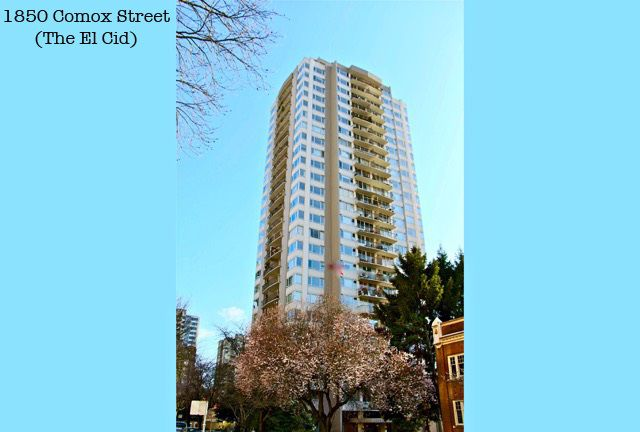 Main Photo: 2103 1850 COMOX STREET in Vancouver: West End VW Condo for sale (Vancouver West)  : MLS®# R2104794