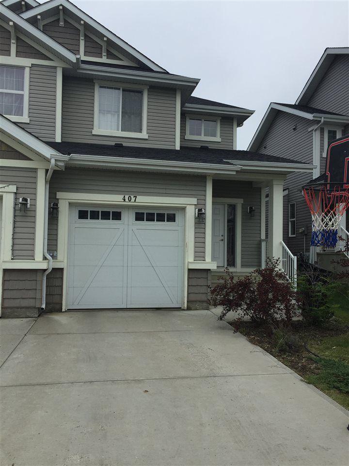 Main Photo: 407 SIMMONDS Way: Leduc House Half Duplex for sale : MLS®# E4165561