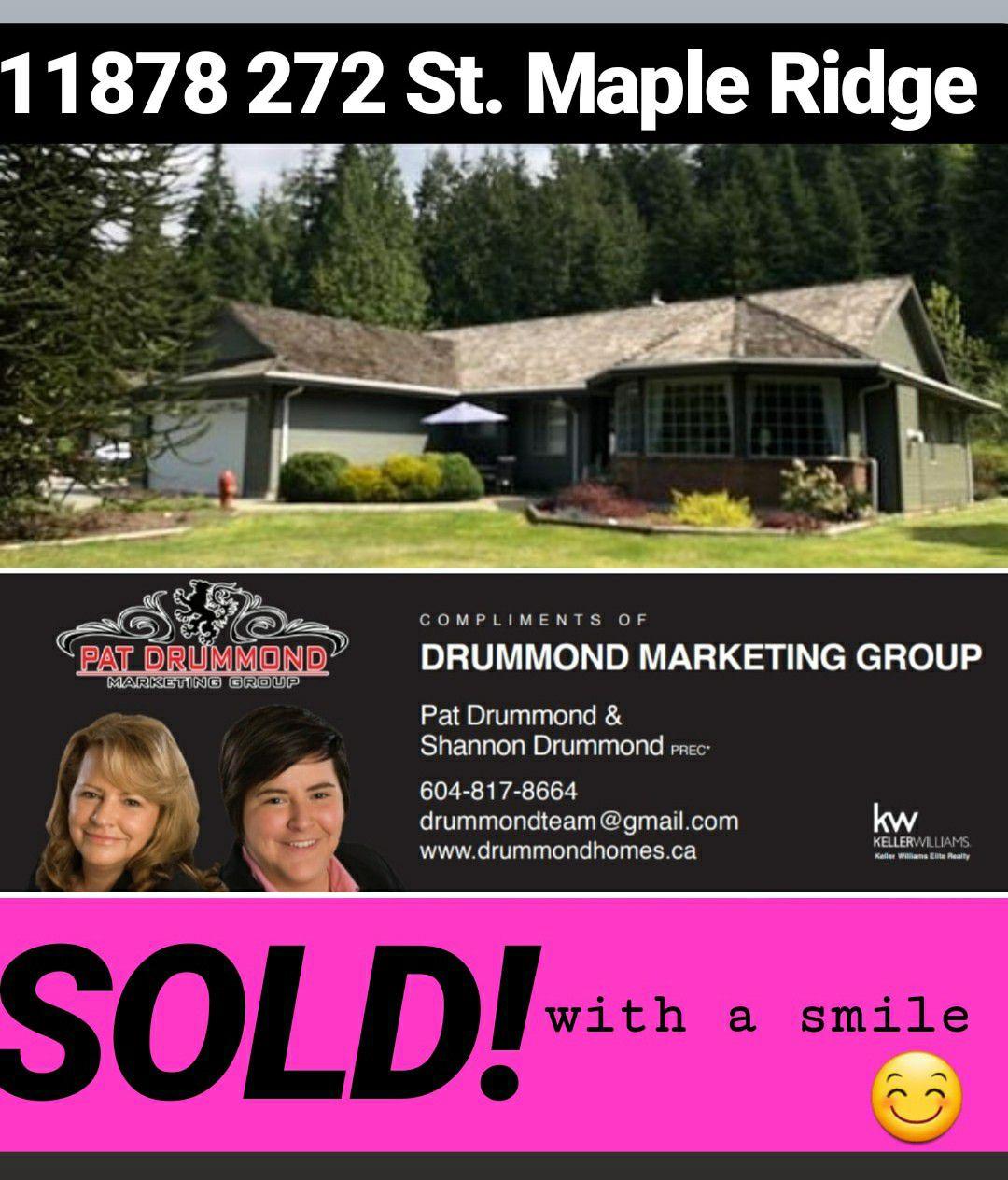 Main Photo: 11878 272 Street in Maple Ridge: Whonnock House for sale : MLS®# R2263864