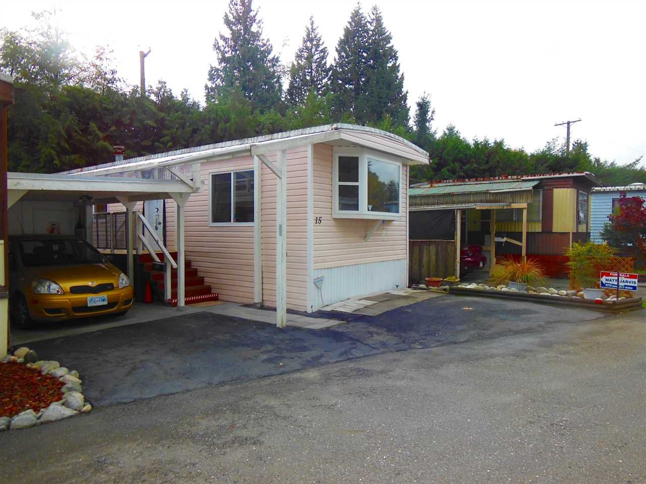 Main Photo: 15 4200 DEWDNEY TRUNK ROAD in Coquitlam: Ranch Park Manufactured Home for sale : MLS®# R2013256