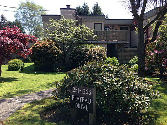 Main Photo: 1251 PLATEAU DR in North Vancouver: Pemberton Heights Condo for sale : MLS®# V1065293
