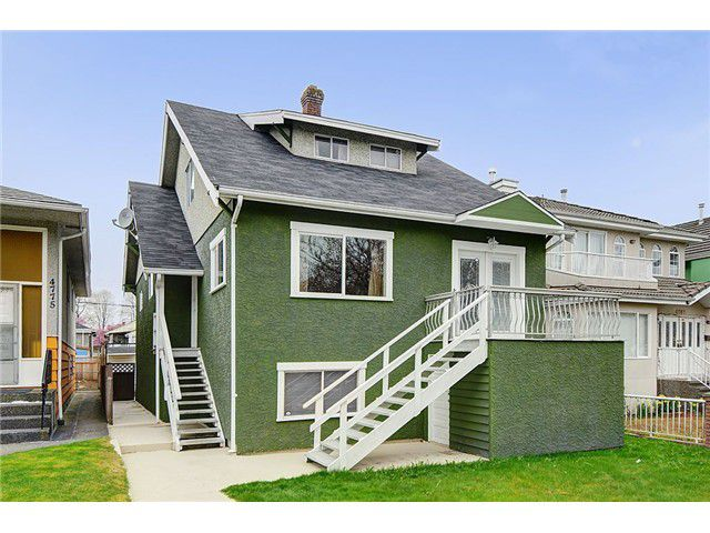 "Main Photo: 4769 BRUCE Street in Vancouver: Victoria VE House for sale in ""VICTORIA"" (Vancouver East)  : MLS®# V1000138"