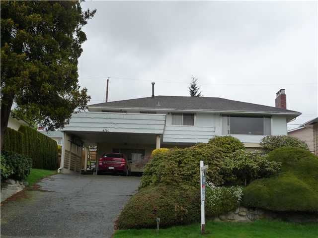 Main Photo: 4163 BOXER Street in Burnaby: South Slope House for sale (Burnaby South)  : MLS®# V940879