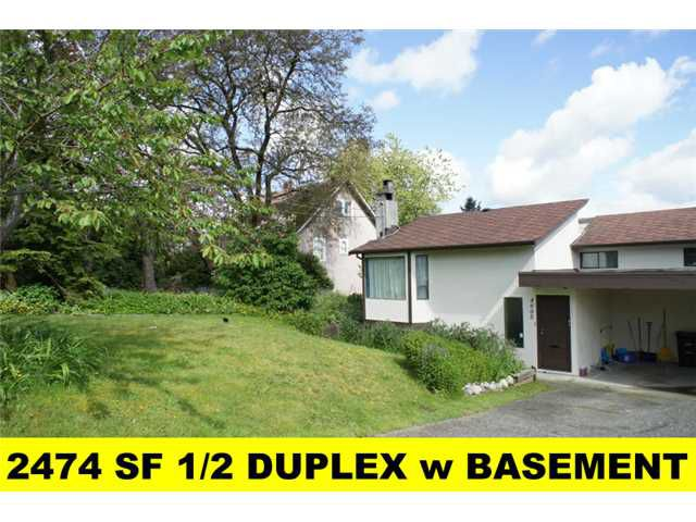 Main Photo: 4605 Grassmere Street in Burnaby: Forest Glen BS House 1/2 Duplex for sale (Burnaby South)  : MLS®# V893124