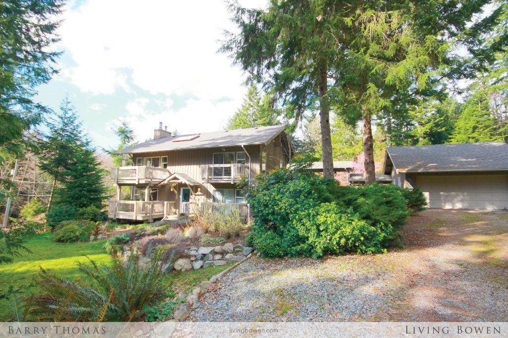 Main Photo: 1662 Adams Road: Bowen Island House for sale : MLS®# V1054303