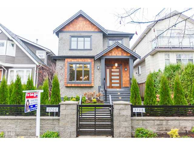 Main Photo: 3706 W 17TH AV in Vancouver: Dunbar House for sale (Vancouver West)  : MLS®# V1095767