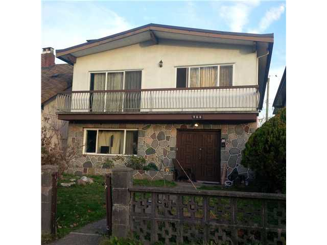 Main Photo: 966 RENFREW ST in Vancouver: Renfrew VE House for sale (Vancouver East)  : MLS®# V1037212