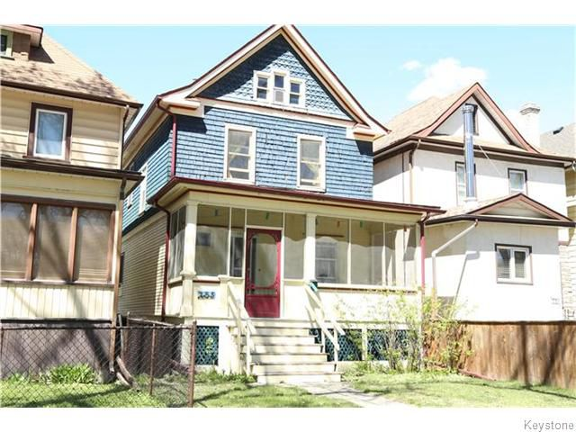 Main Photo: 753 Fleet Avenue in Winnipeg: Single Family Detached for sale : MLS®# 1611573